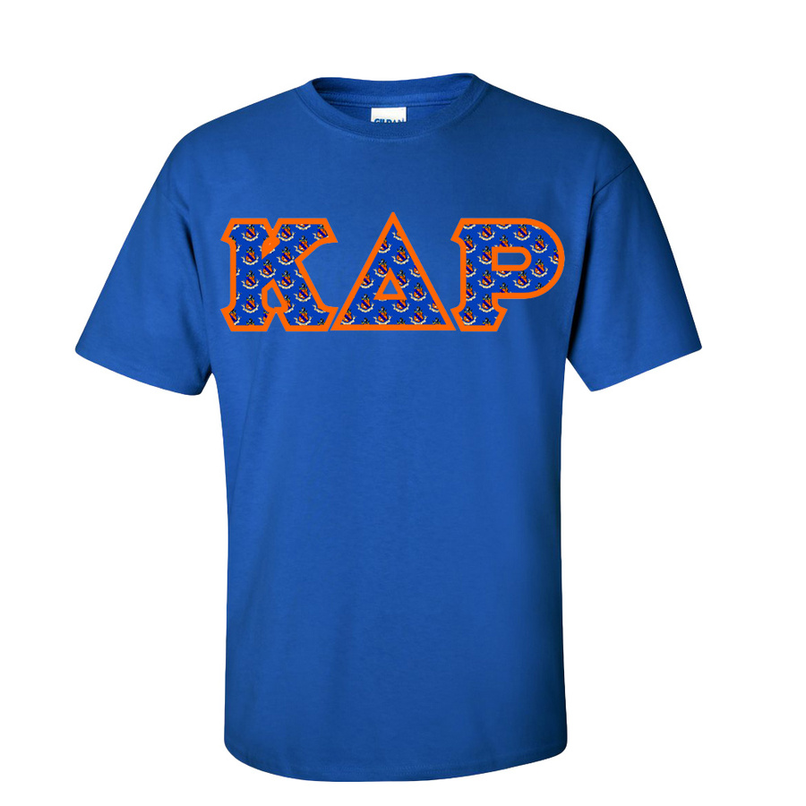 Kappa Delta Rho Fraternity Crest - Shield Twill Letter Tee