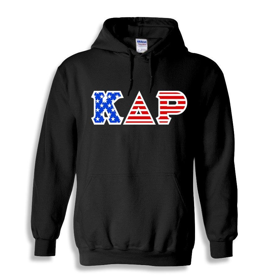 Kappa Delta Rho Greek Letter American Flag Hoodie