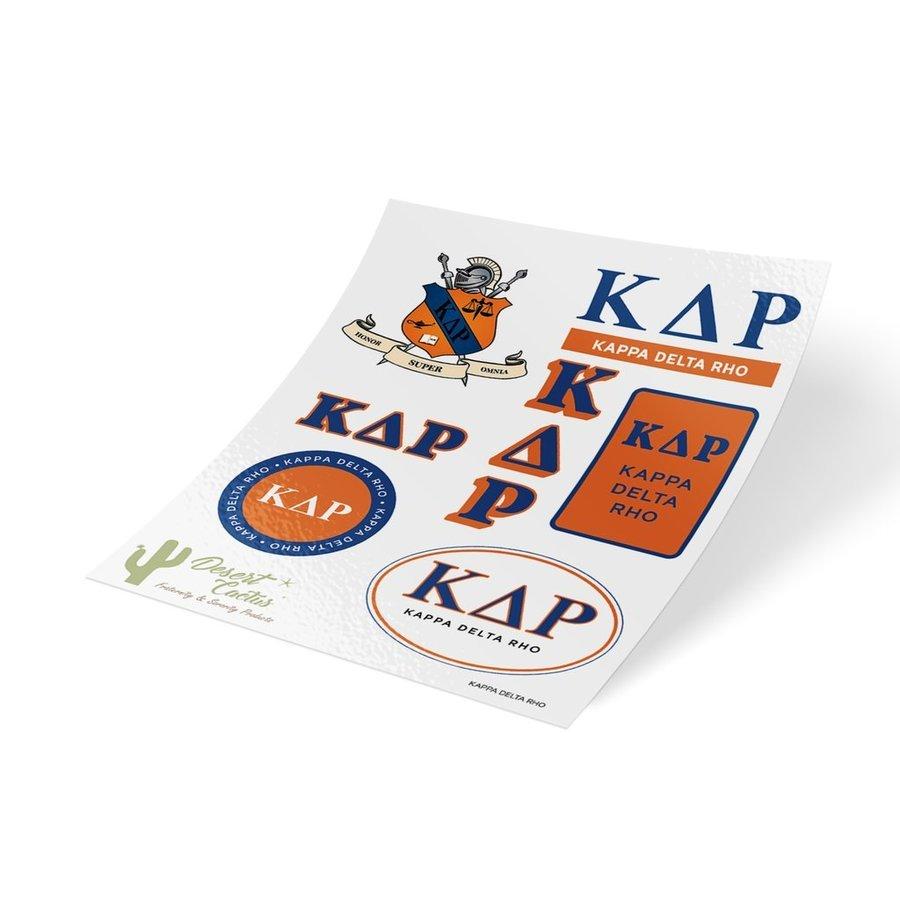 Kappa Delta Rho Traditional Sticker Sheet