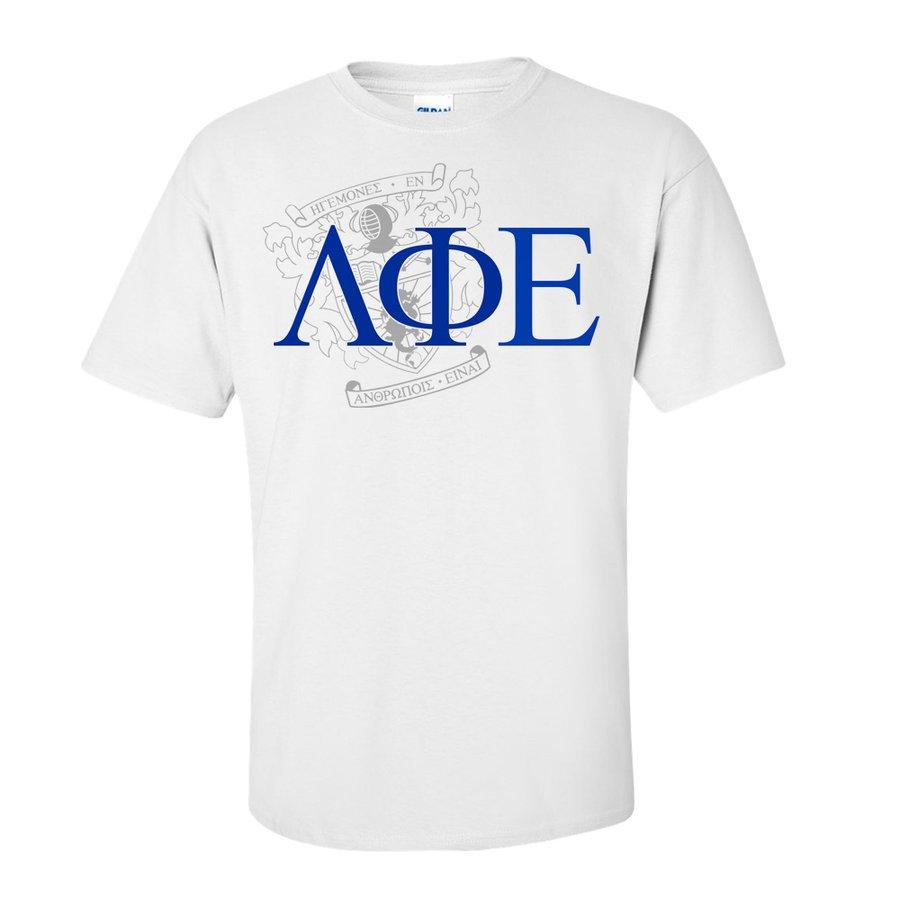 Lambda Phi Epsilon Greek Crest - Shield T-Shirt