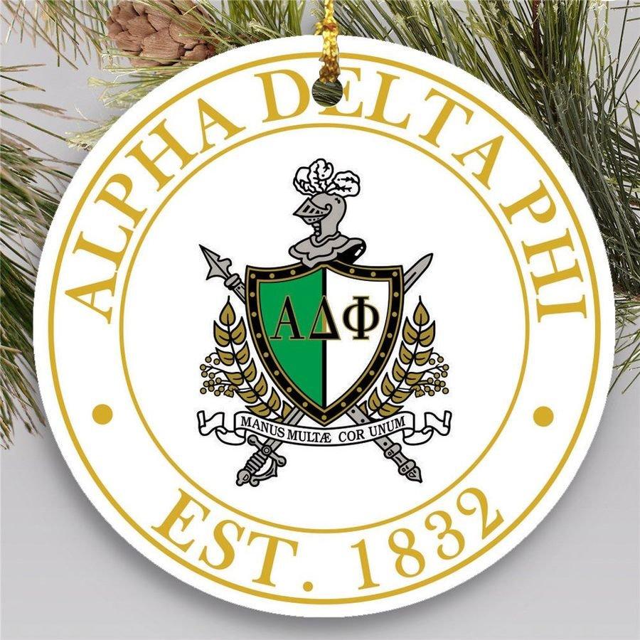Alpha Delta Phi Circle Crest Round Ornaments