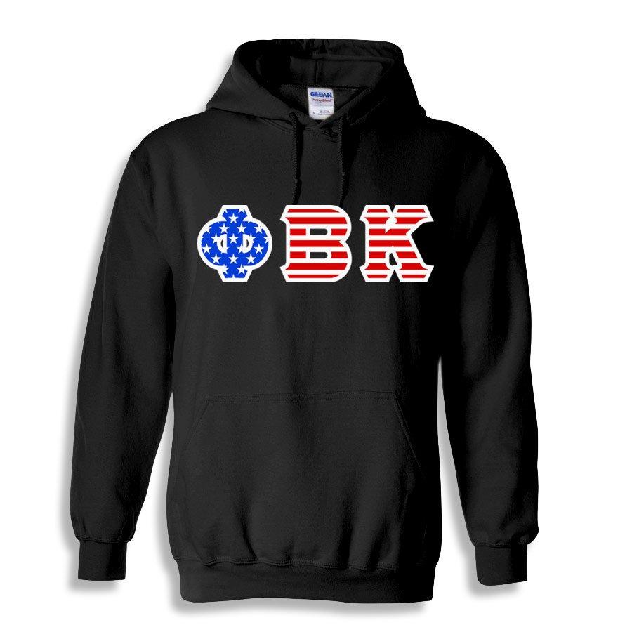 Phi Beta Kappa Greek Letter American Flag Hoodie