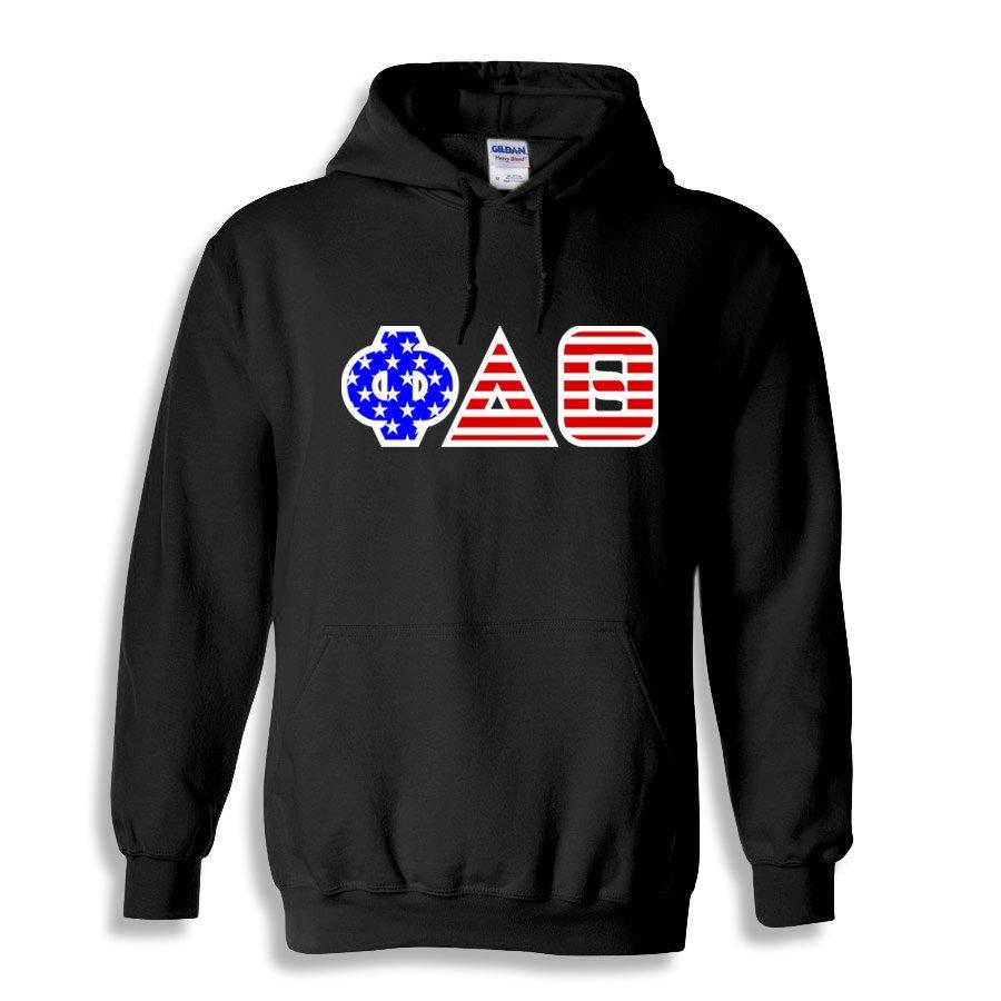 DISCOUNT-Phi Delta Theta Greek Letter American Flag Hoodie