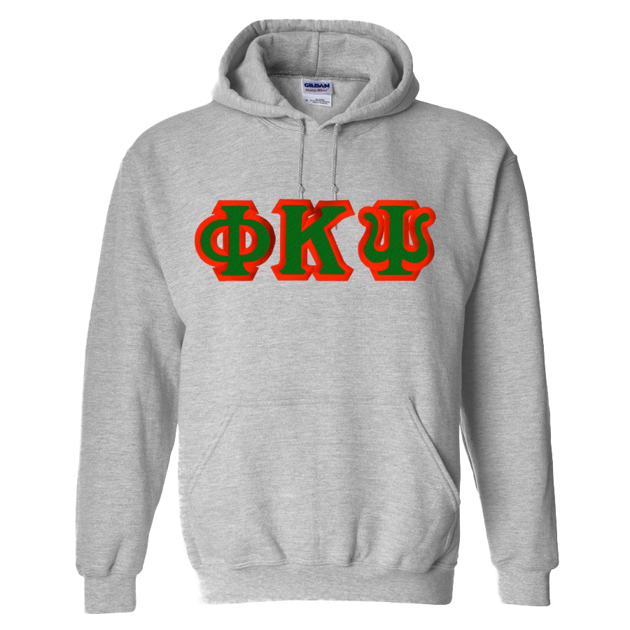 Phi Kappa Psi Custom Twill Hooded Sweatshirt