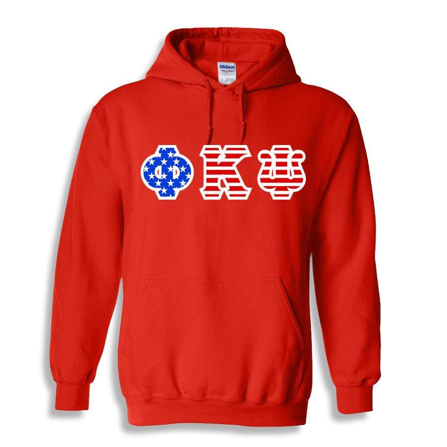 Phi Kappa Psi Greek Letter American Flag Hoodie