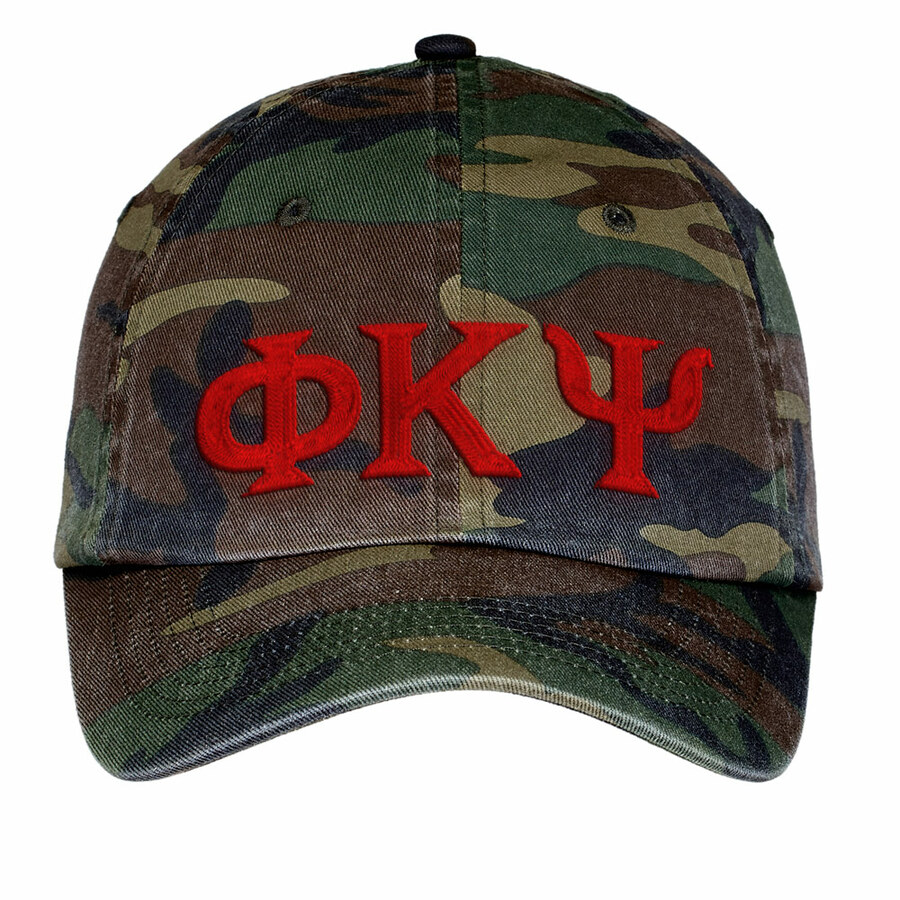 Phi Kappa Psi Lettered Camouflage Hat