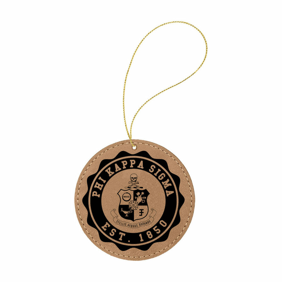 Phi Kappa Sigma Leatherette Crest Holiday Ornament