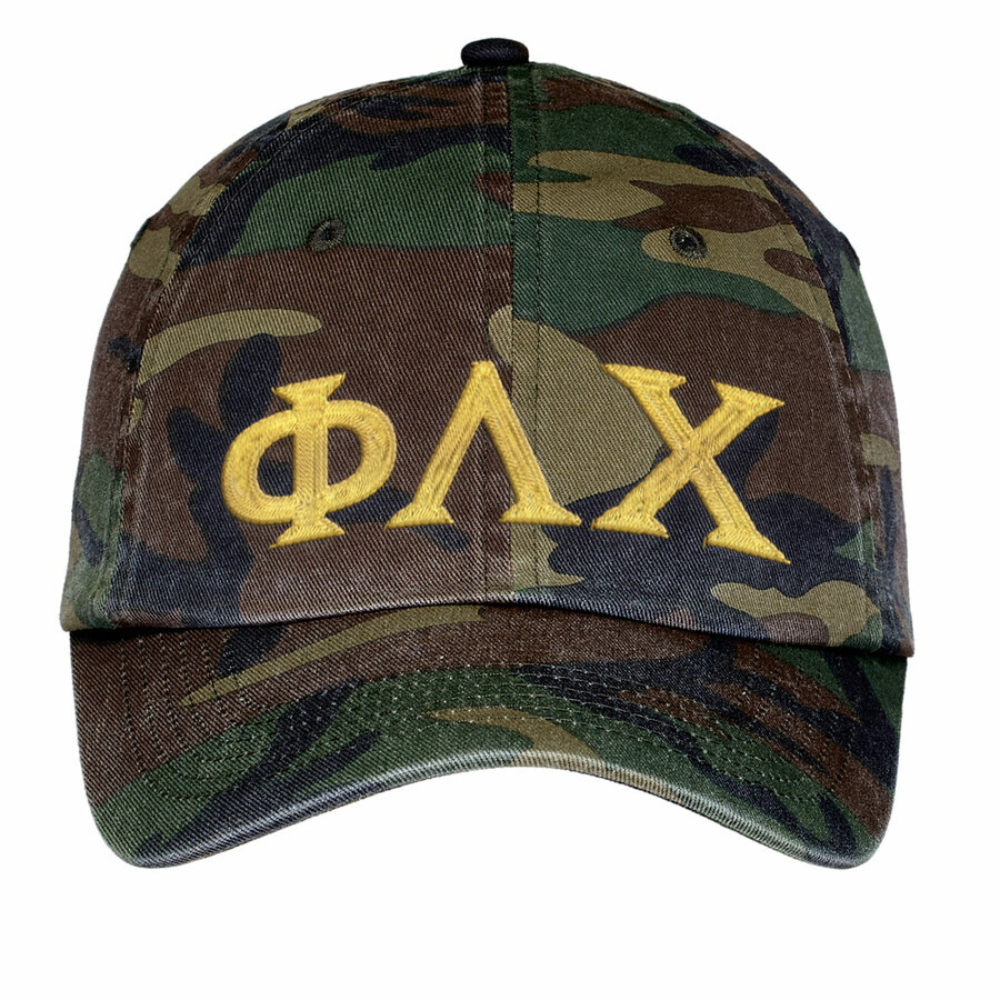 Phi Lambda Chi Lettered Camouflage Hat