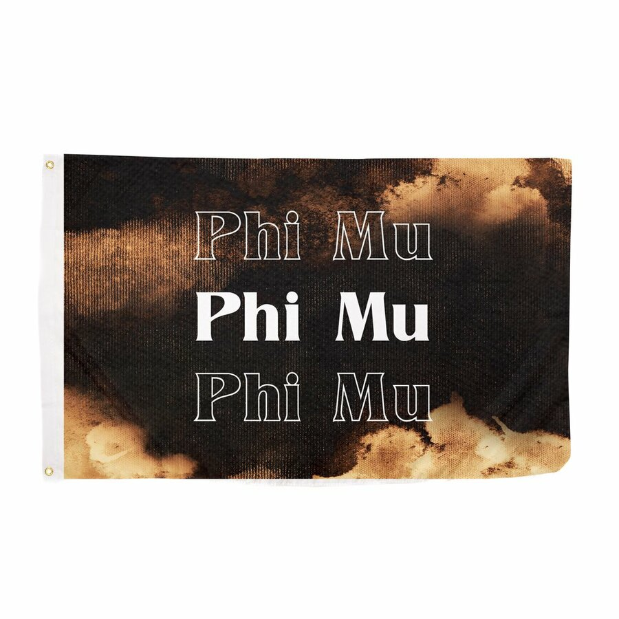 Phi Mu Bleach Wash Flag
