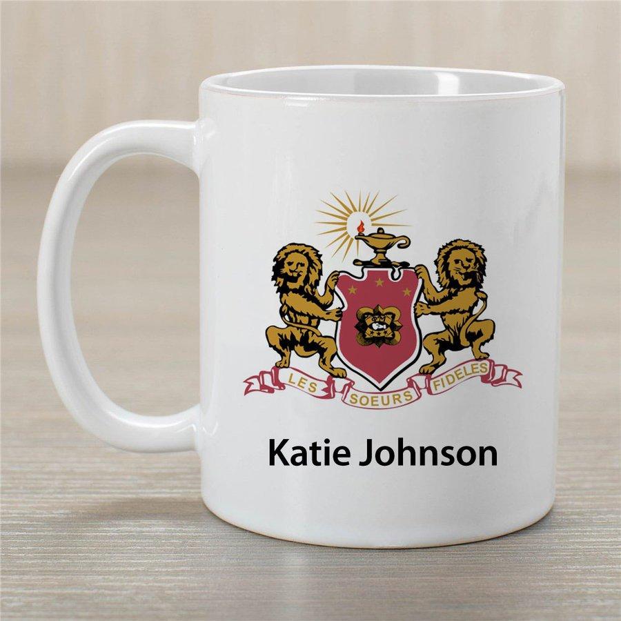 Phi Mu Crest Coffee Mug