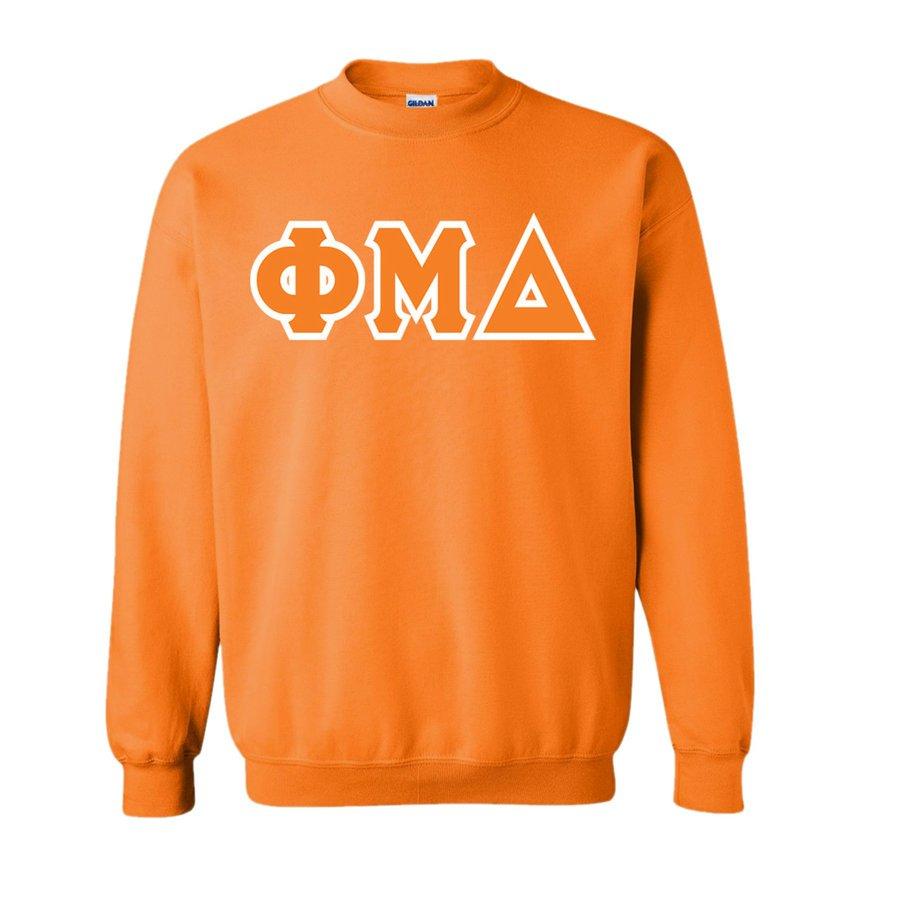 Phi Mu Delta Lettered Crewneck Sweatshirt