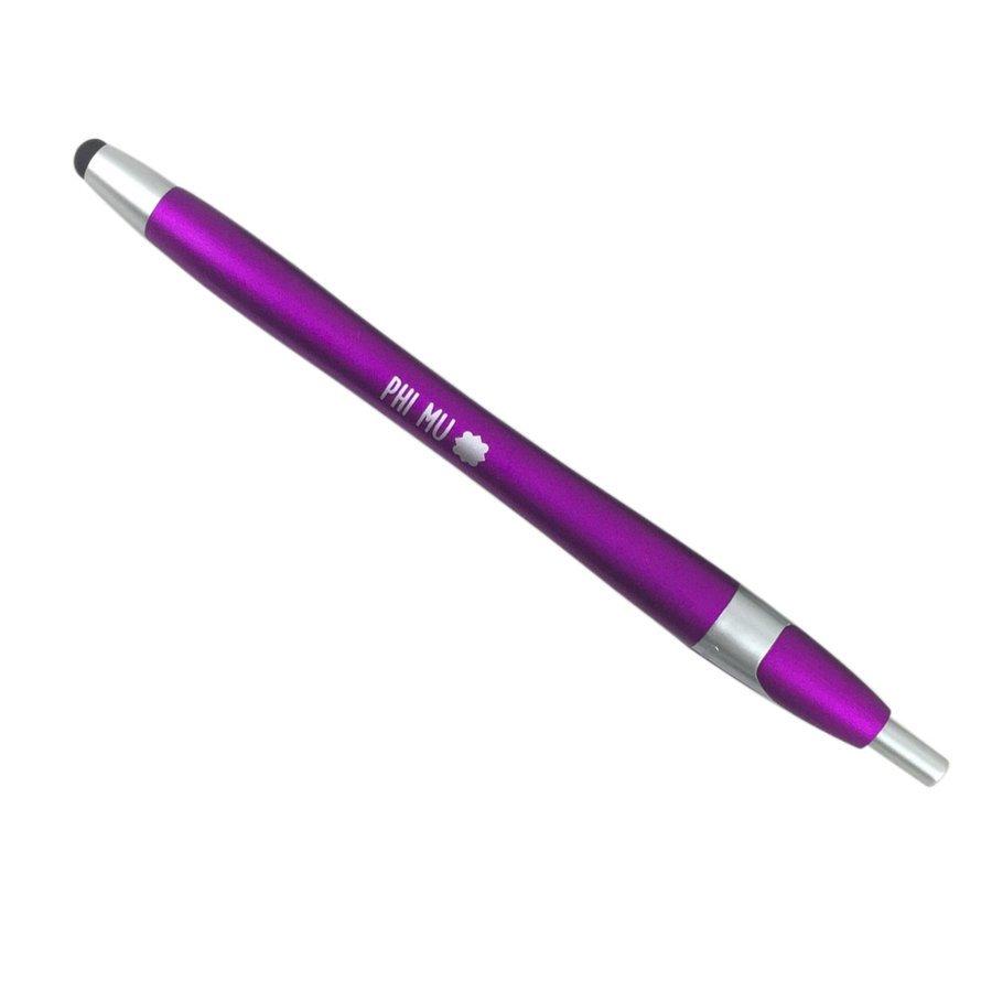 Phi Mu Retractable Stylus Pen