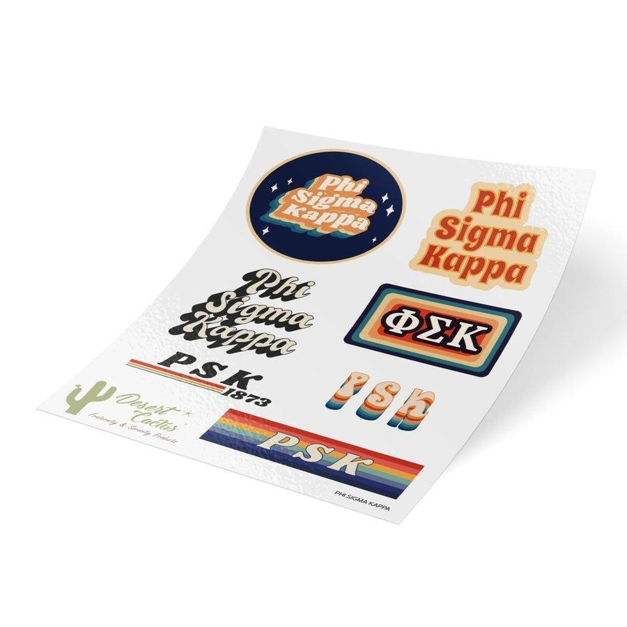 Phi Sigma Kappa 70's Sticker Sheet