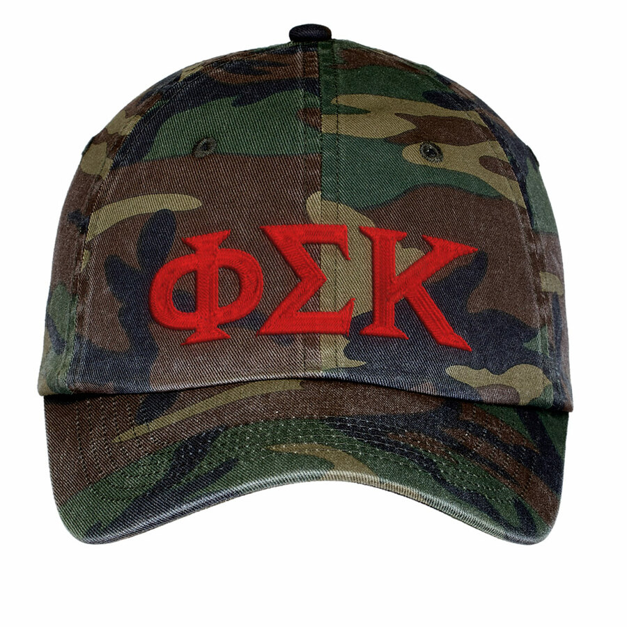Phi Sigma Kappa Lettered Camouflage Hat