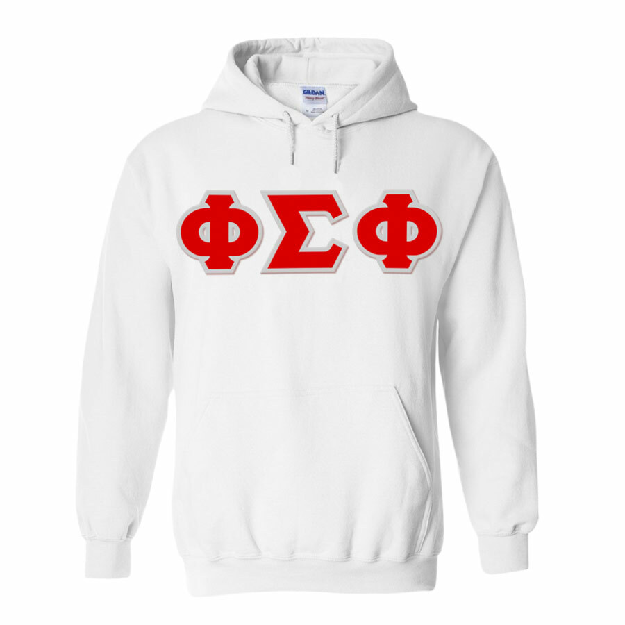 Phi Sigma Phi Lettered Twill Hoodie
