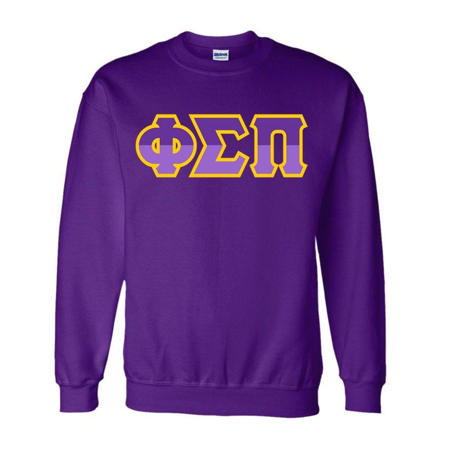 Phi Sigma Pi Two Tone Greek Lettered Crewneck Sweatshirt