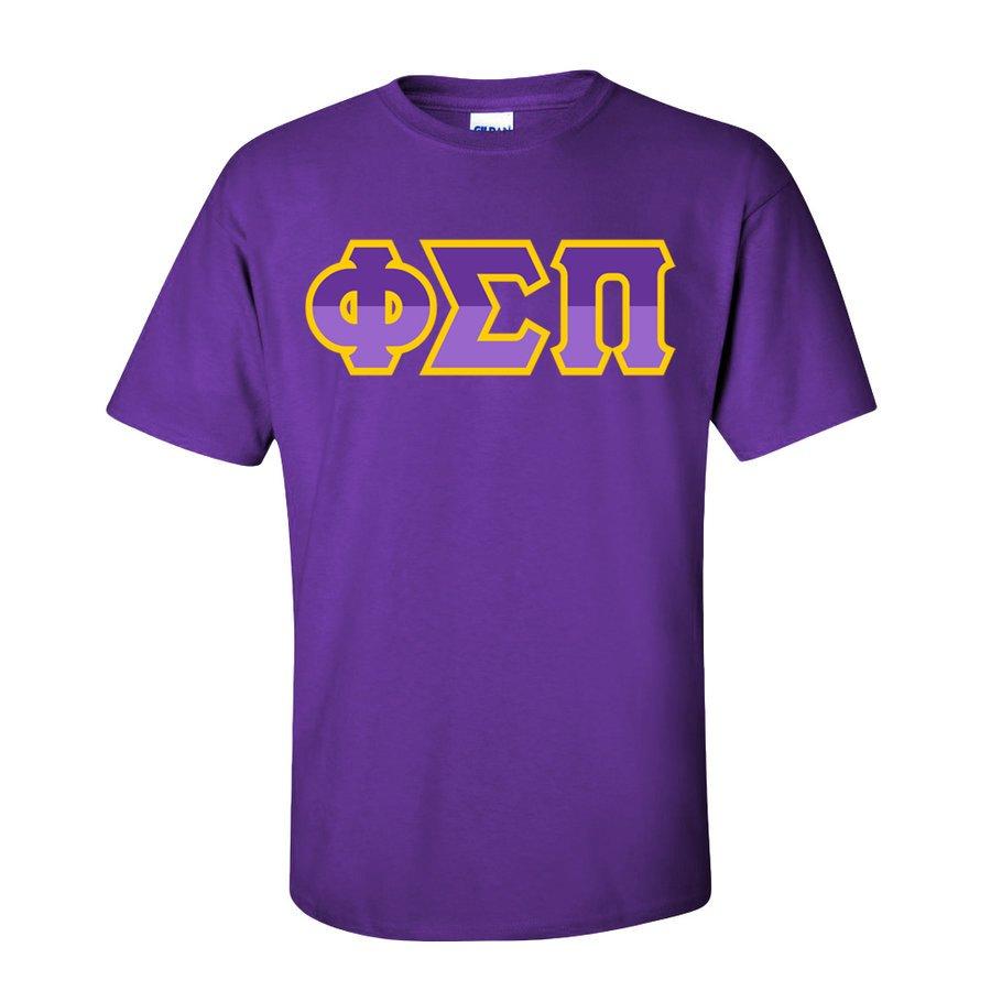 Phi Sigma Pi Two Tone Greek Lettered T-Shirt