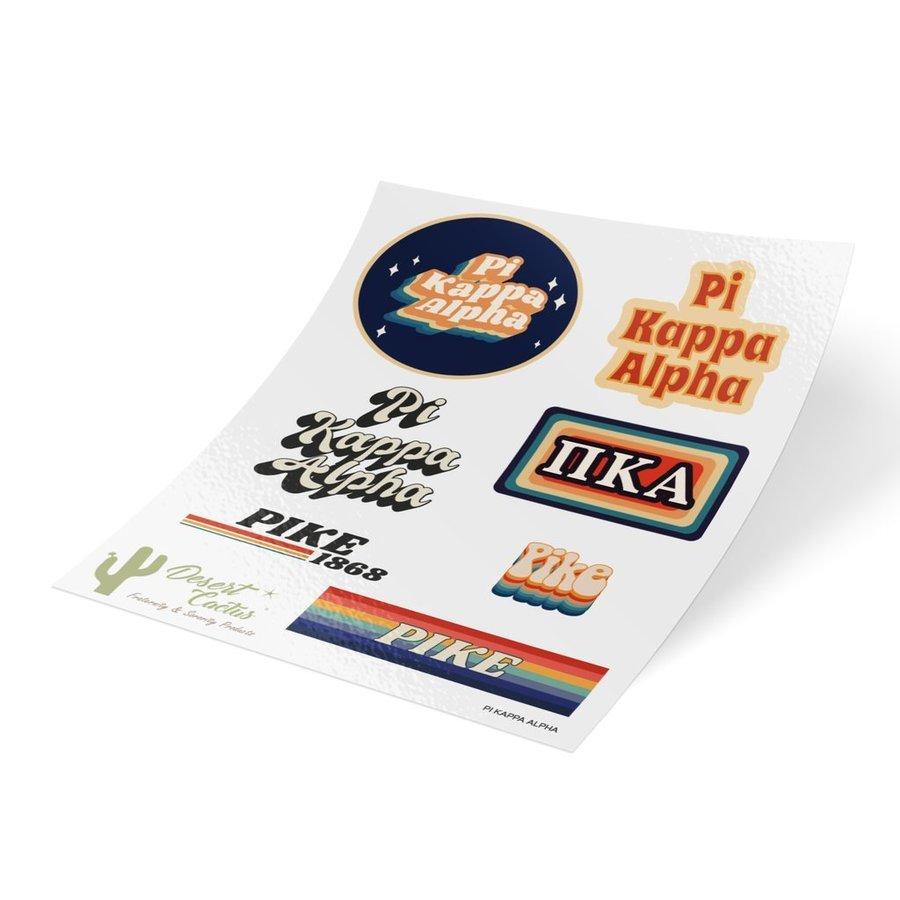 Pi Kappa Alpha 70's Sticker Sheet