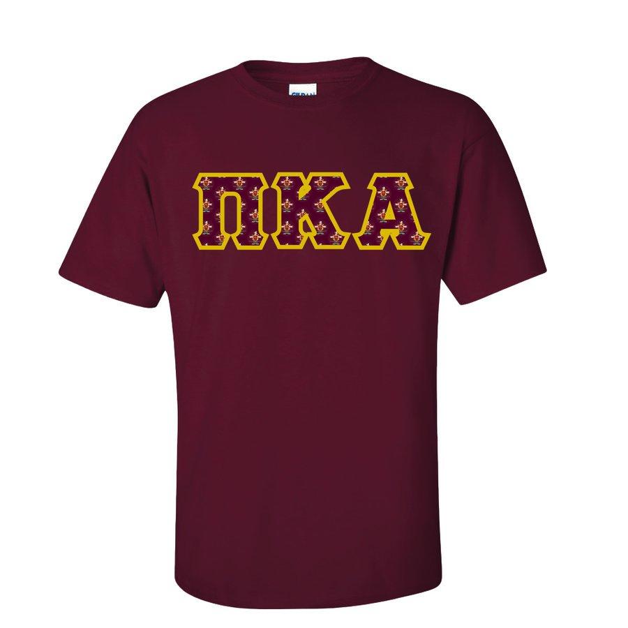 Pi Kappa Alpha Fraternity Crest - Shield Twill Letter Tee