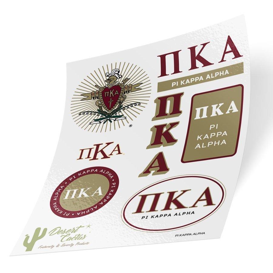 Pi Kappa Alpha Traditional Sticker Sheet