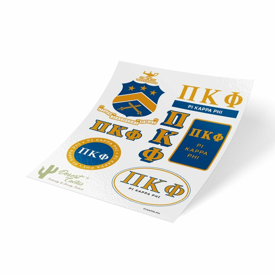 Pi Kappa Phi Traditional Sticker Sheet