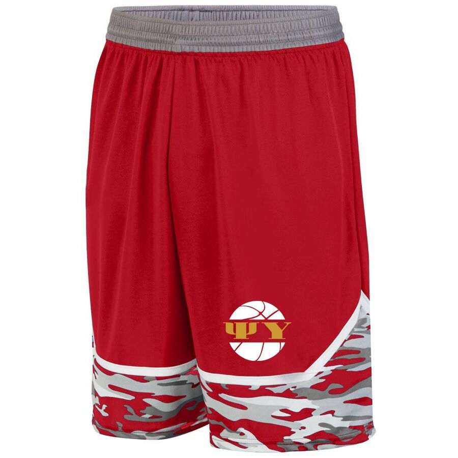 Psi Upsilon Camo Game Day Basketball Short