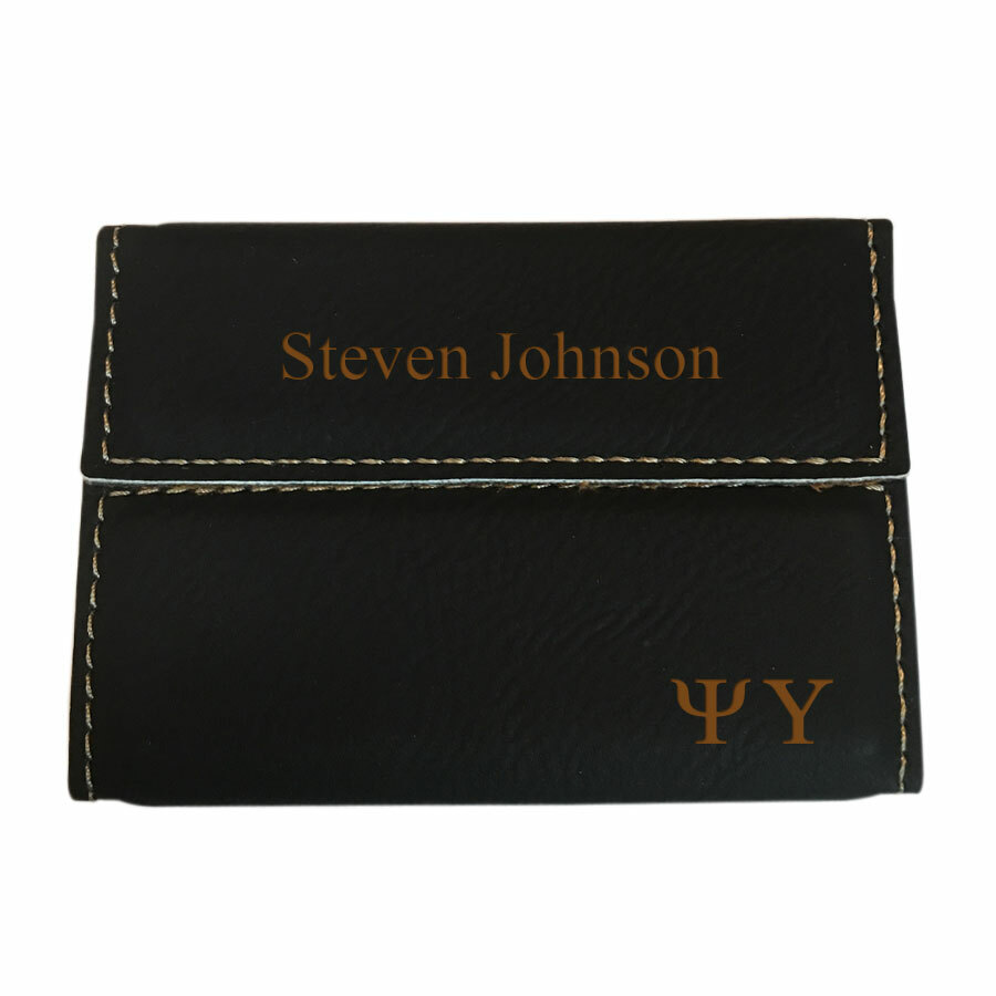 Psi Upsilon Executive Hard Business Card Holder