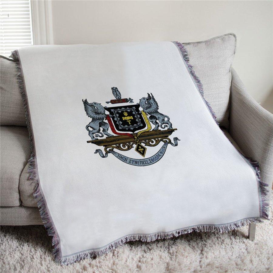 Psi Upsilon Full Color Crest Afghan Blanket Throw