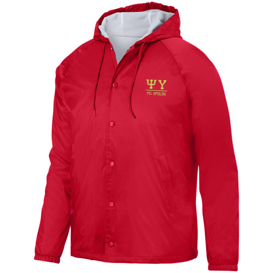 Psi Upsilon Hooded Coach's Jacket