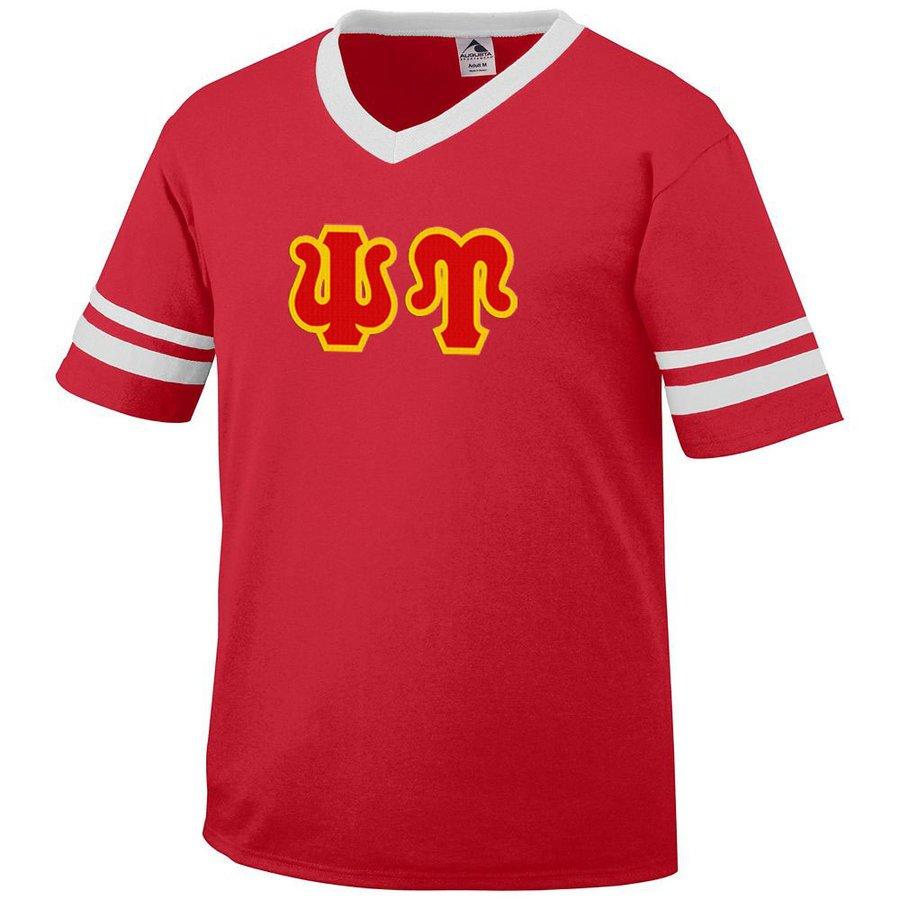 DISCOUNT-Psi Upsilon Jersey With Greek Applique Letters