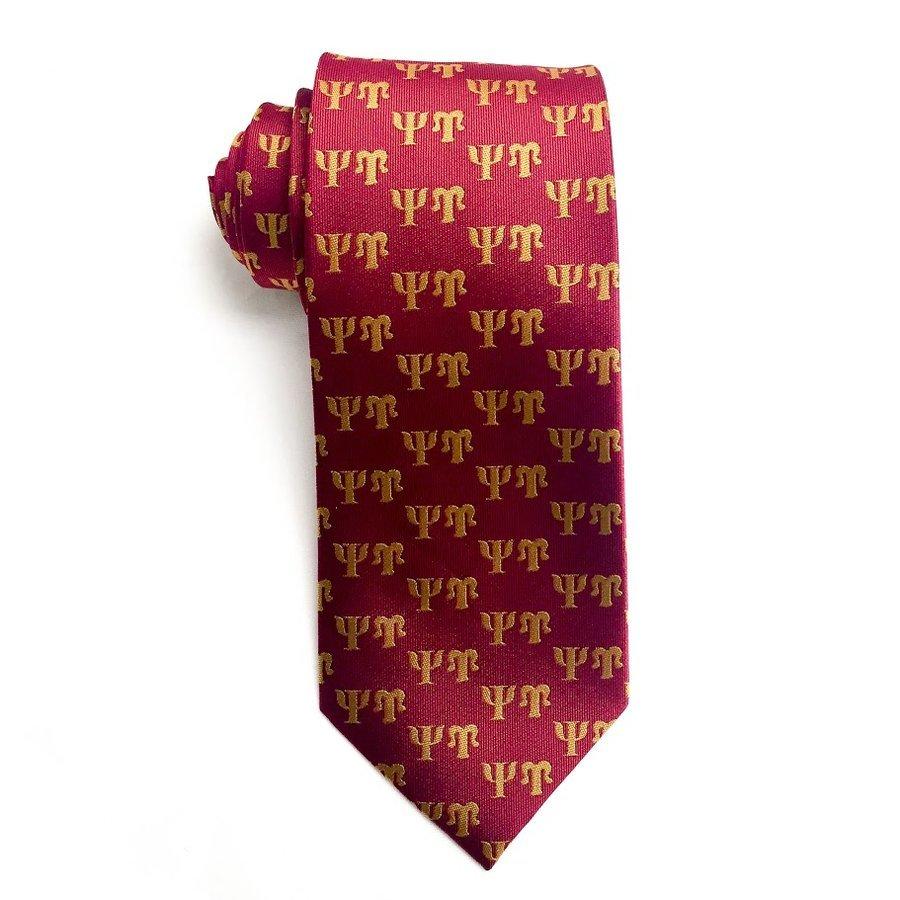 Psi Upsilon Lettered Woven Necktie
