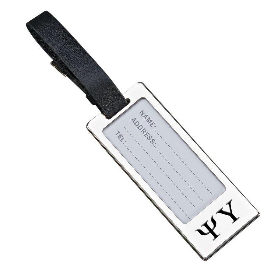 Psi Upsilon Luggage Tag With Identification Window