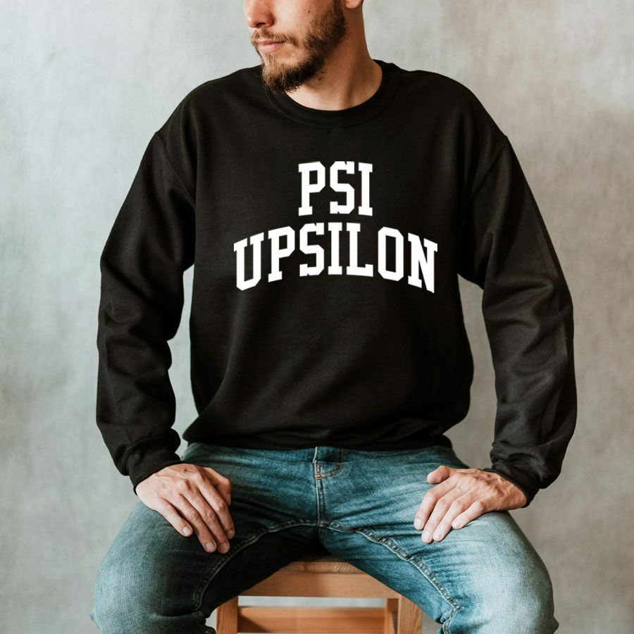 Psi Upsilon Arched Crewneck Sweatshirt