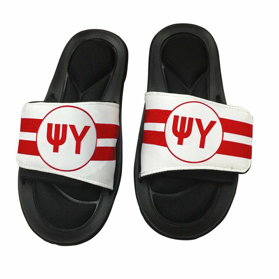 Psi Upsilon Slide On Circle Sandals