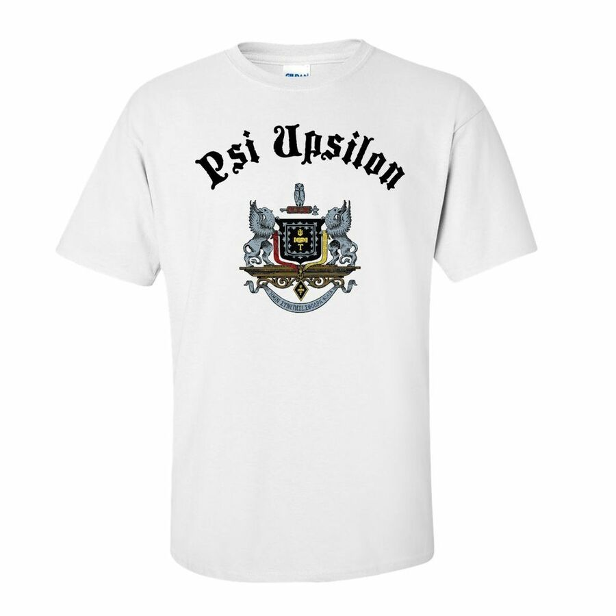 Psi Upsilon Vintage Crest - Shield T-shirt