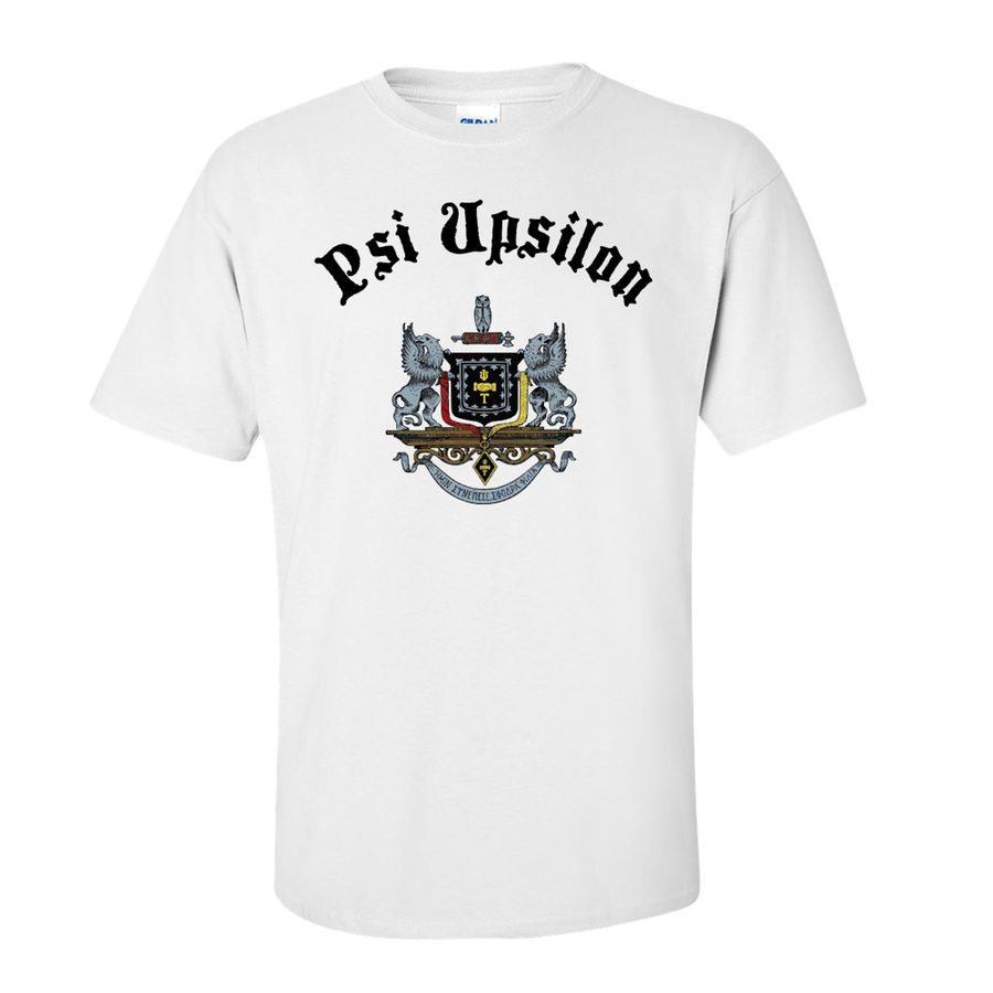 Psi Upsilon Vintage Crest - Shield T-shirt