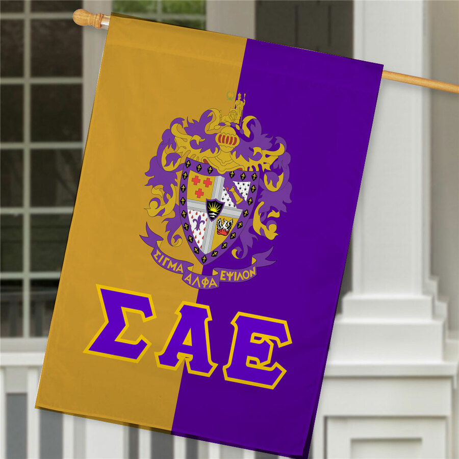Sigma Alpha Epsilon Crest House Flag
