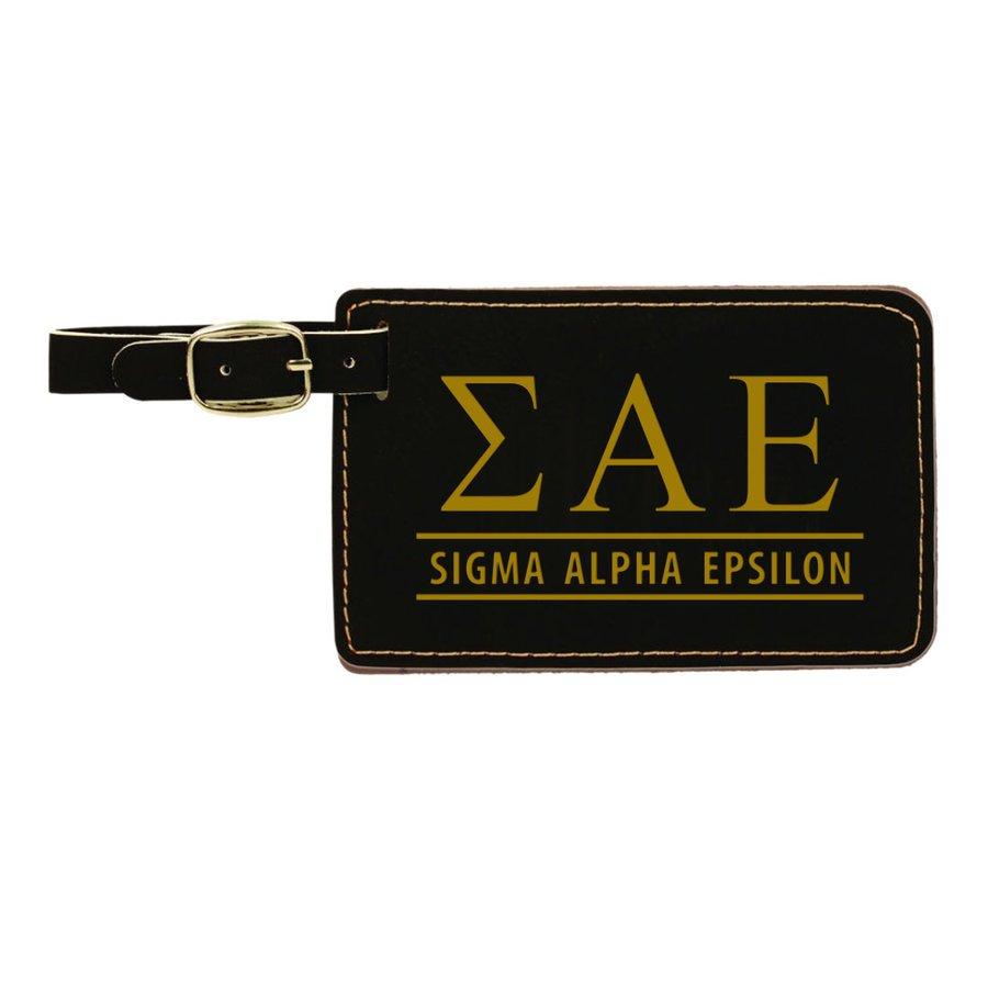 Sigma Alpha Epsilon Leatherette Luggage Tag