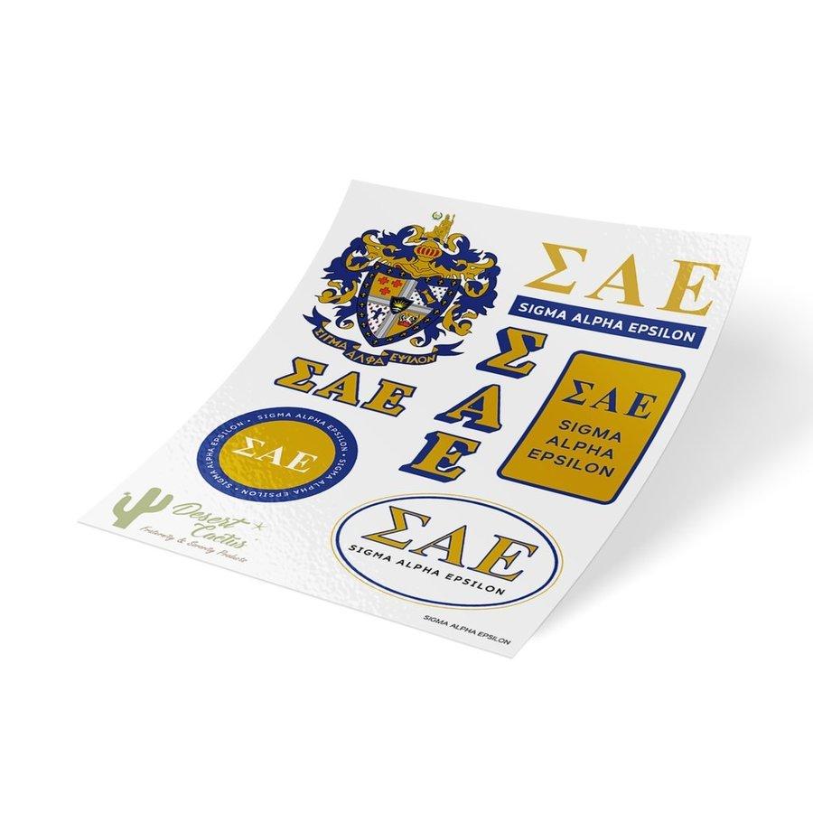 Sigma Alpha Epsilon Traditional Sticker Sheet