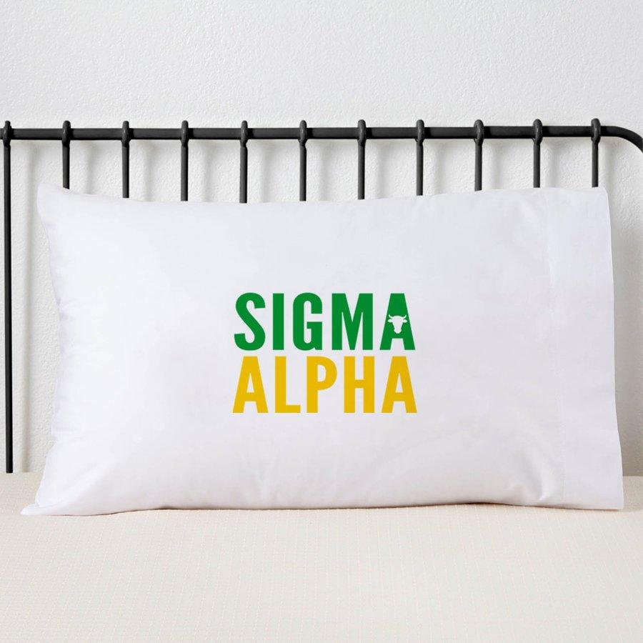 Sigma Alpha Name Stack Pillow Cover