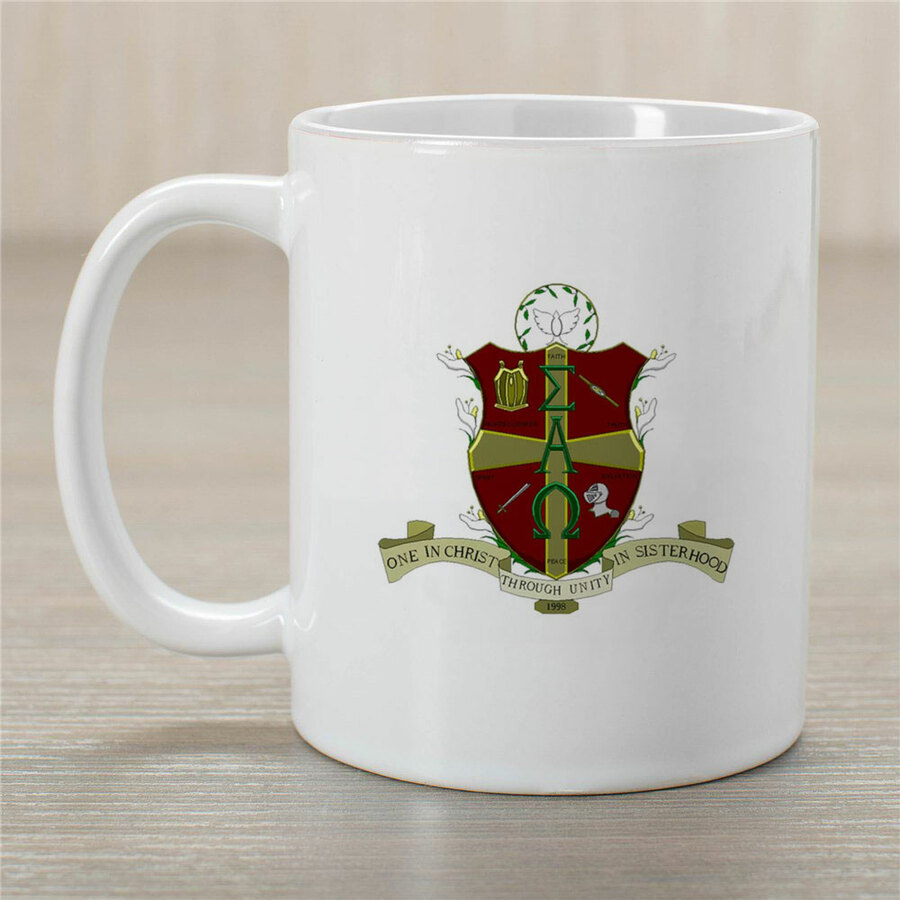 Sigma Alpha Omega Crest Coffee Mug