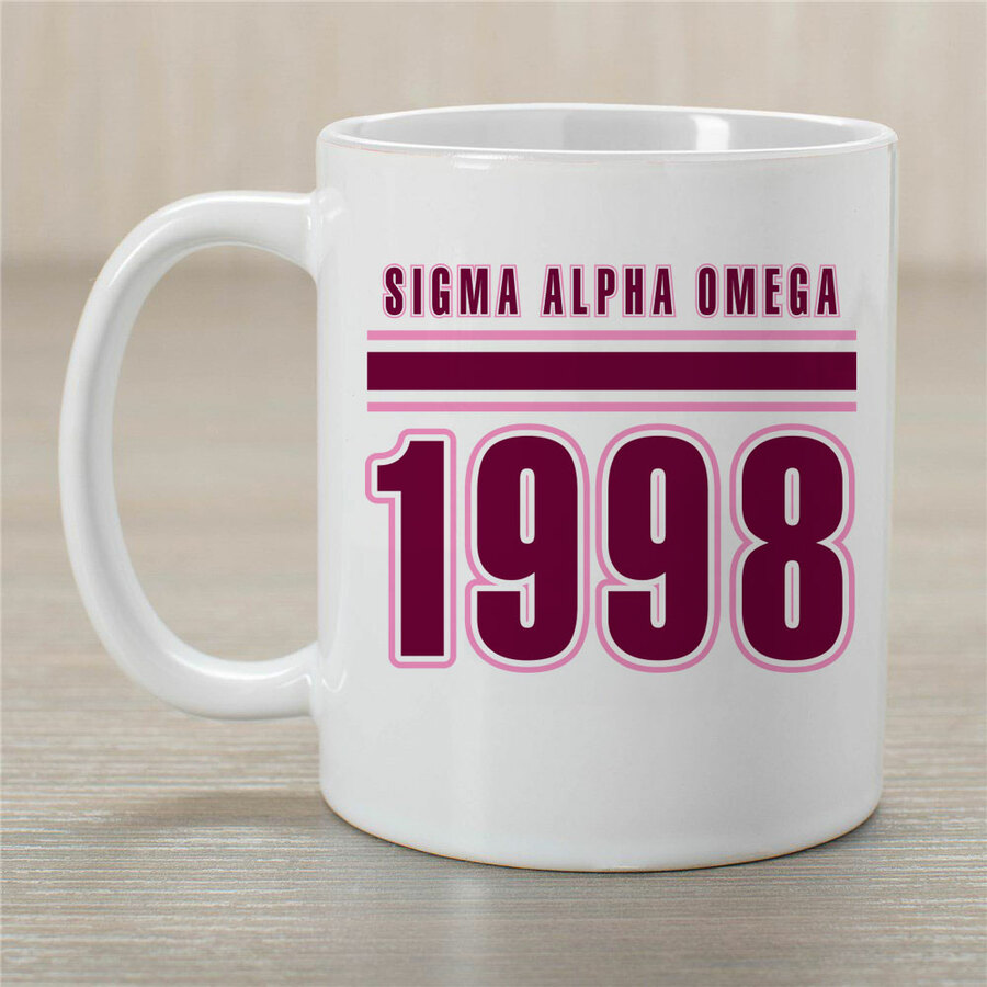 Sigma Alpha Omega Established Year Coffee Mug - Personalized!