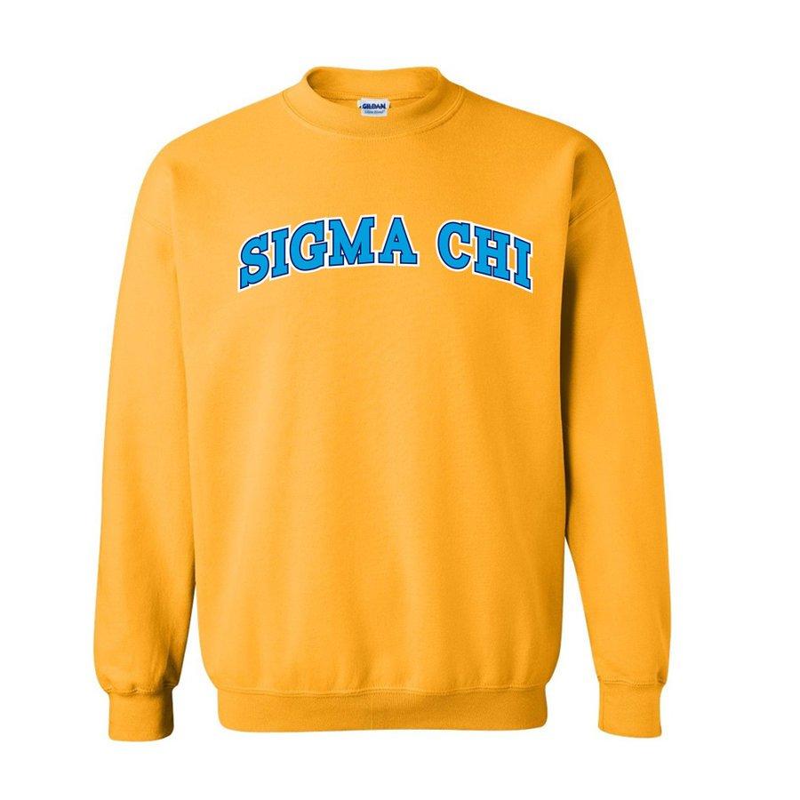 Sigma Chi 2 Color Letterman Crewneck