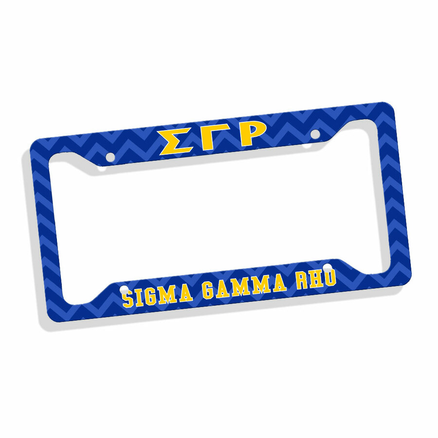 Sigma Gamma Rho Chevron License Plate Frame