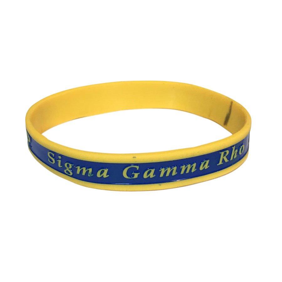 Sigma Gamma Rho Silicone Bracelet