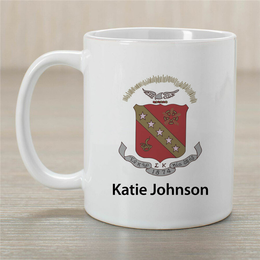 Sigma Kappa Crest Coffee Mug - Personalized!