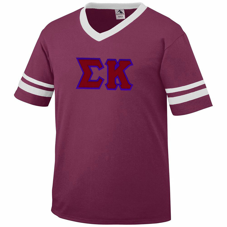 DISCOUNT-Sigma Kappa Jersey With Greek Applique Letters