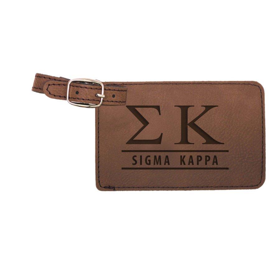 Sigma Kappa Leatherette Luggage Tag
