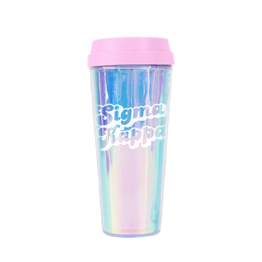 Sigma Kappa Retro Style Sorority Tumbler