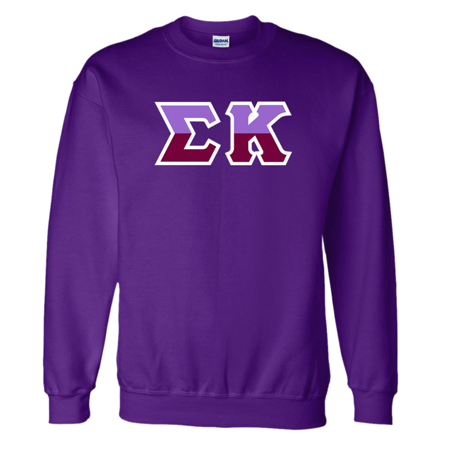 Sigma Kappa Two Tone Greek Lettered Crewneck Sweatshirt